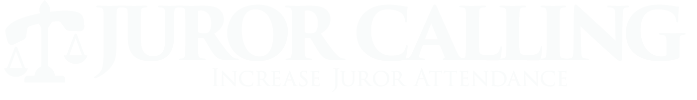 Juror Calling Logo white horizontal version