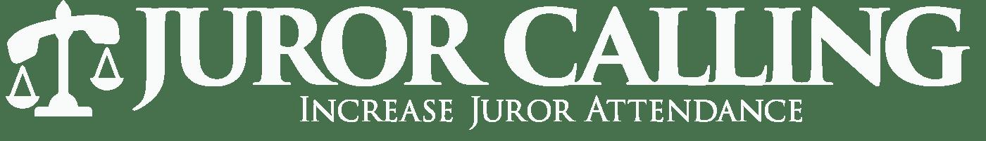 Juror Calling Logo white horizontal version