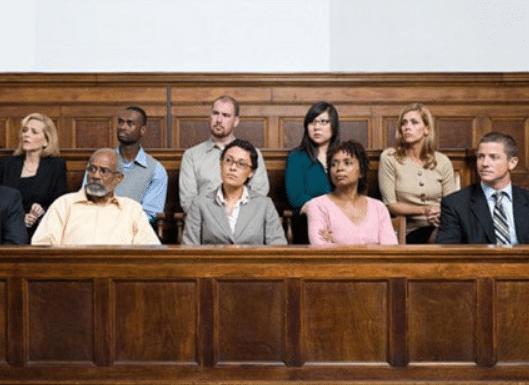diverse jury of jurors sitting in a jury